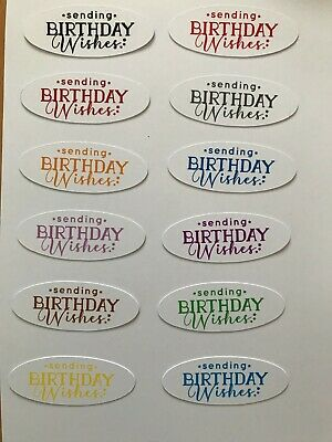 £2 • Buy Card Toppers X 12 Embellishments/toppers/card Making - Birthday Wishes