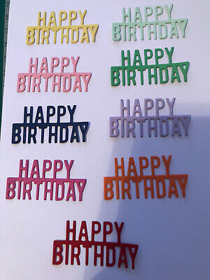 £2 • Buy Die Cut Mix  X 14 Embellishments/toppers/card Making - Happy Birthday