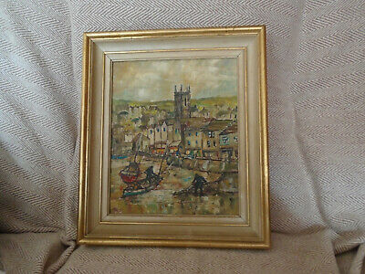 £300 • Buy Yram Allets Framed Signed Oil Painting St Ives Harbour Stella Mary Edwards