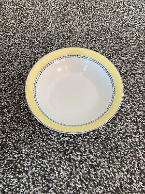 £5 • Buy Rare Cute Shabby Chic Royal Doulton Blueberry Yellow Rimmed Cereal Bowl