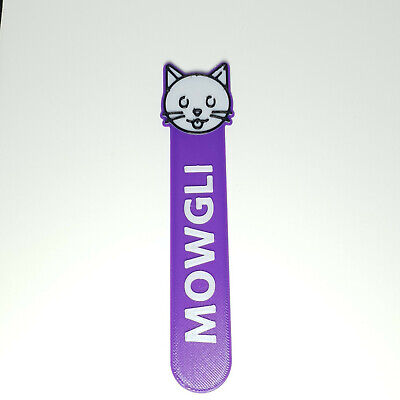 £3.50 • Buy Personalised Cat Face Icon Bookmark Party Bag Filler Gifts Under 5 Reading Time