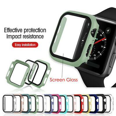 $ CDN4.64 • Buy For Apple Watch Series 3/4/5/6/SE Full Protective Cover Case Screen Protector
