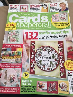 £3.50 • Buy Simply Cards And Papercraft Magazine Issue 163plus Unused Free Gfts