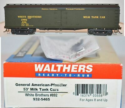 $19.95 • Buy White Brothers GPEX 892 53' Milk Tank Car Walthers 932-5465 HO Scale JY23.11