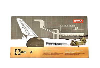 £44.85 • Buy *SYMA CHINOOK CARGO CARRIER RC HELICOPTER NO.SO26 COMPLETE And WORKING