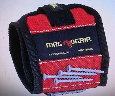 $11.99 • Buy MagnoGrip 311-090 Magnetic Wristband, Red/Black Nail / Screw Holder