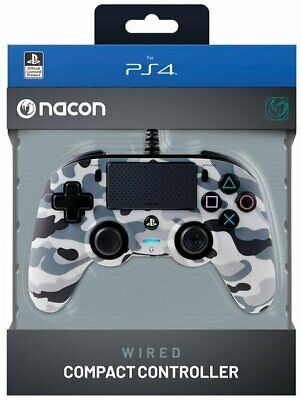 AU53.64 • Buy Nacon PS4 Compact Wired Gaming Controller - Camo Grey