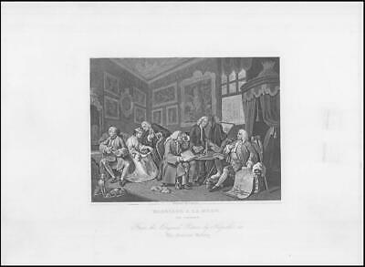 £10 • Buy C1880 Original Print MARRIAGE A LA MODE The Contract By William Hogarth (WH40)