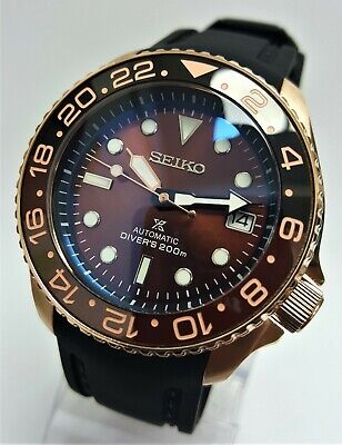 $ CDN268.32 • Buy SKX007 Divers Watch SEIKO Mod SII NH36 Automatic Double Dome Ceramic RoseGold