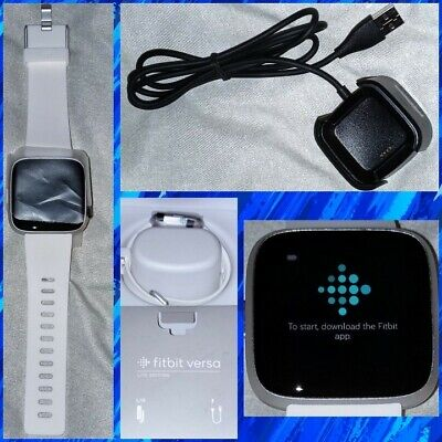 $ CDN50.35 • Buy Fitbit Versa Lite Activity Tracker White Watch S/L Bands~FB415**NEVER USED**L👀K