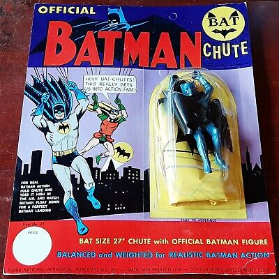 £199.97 • Buy Rare 1966 Vintage Batman Official Bat Chute Toy On Card 27 , Factory Sealed