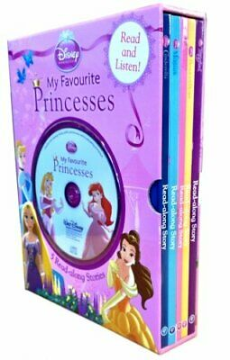 £3.19 • Buy Disney Princess 5-Book And Read-along CD Slipcase Set By Disney, Acceptable Used