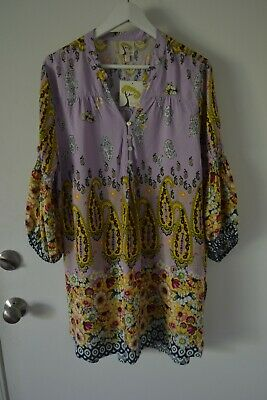 $ CDN41.42 • Buy Fig And Flower Anthropologie Shirt Top Blouse Long Tunic Rayon Size XL