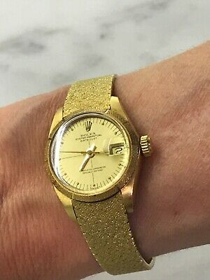 $ CDN13618.82 • Buy Rolex Ladies Oyster Perpetual Datejust Vintage 18ct Solid Gold Watch