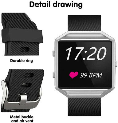 AU4.53 • Buy Band Strap Soft Sport Fashion Silicone Breathable Replacement For Fitbit Blaze