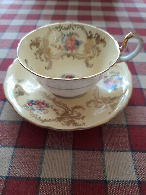 £5.50 • Buy Aynsley Bone China Tea Cup And Saucer Floral In Gold