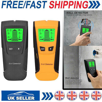 £10.99 • Buy Electric Wall Stud Center Detector Metal Pipe Wood AC Live Wire Finder Scanner