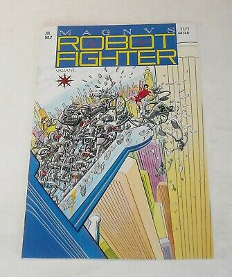$9.99 • Buy MAGNUS ROBOT FIGHTER # 2 VALIANT COMICS May 1991 With TRADING CARD INSERT