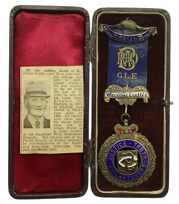 £7.50 • Buy 1917 Dated Royal Order Of Buffaloes R.A.O.B. Silver Jewel Medal In Box #25