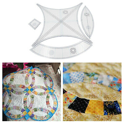 $21.90 • Buy Acrylic Quilting Templates Rulers Sewing Machine DIY Patchwork Crochet