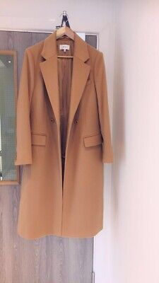 £165 • Buy Reiss Double Breasted Sabel Camel Coat Size 12 BNWOT