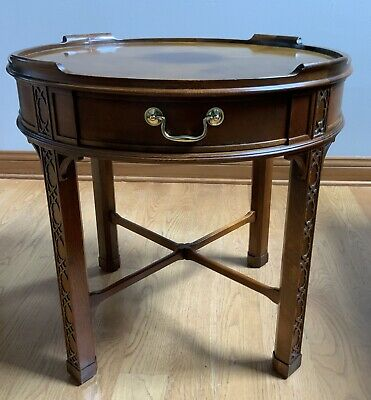 $325 • Buy Baker Furniture Chinese Chippendale Carved Mahogany Fretwork Tea, Side Table