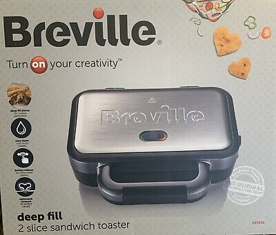 £24.99 • Buy Breville Deep Fill Sandwich Toaster And Toastie Maker Non-Stick, Stainless Steel