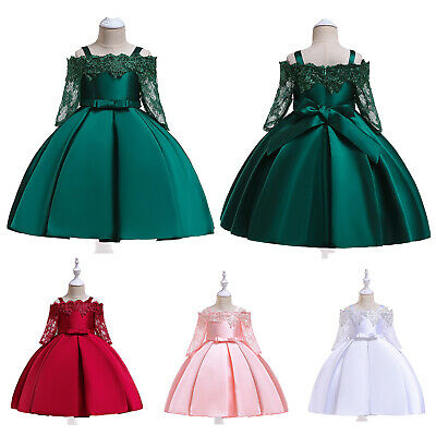 £16.91 • Buy Kids Girls Floral Lace Dress Clothes Birthday Formal Princess Dresses Ball Gowns