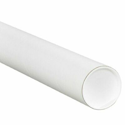 $57.95 • Buy Aviditi White Mailing Tubes With Caps 4  X 12  Pack Of 15 For Shipping Storin...