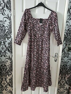 £6.99 • Buy Ladys Dorothy Perkins Floral Pattern 3/4 Sleeved Maxi Dress Size 14 BNWT