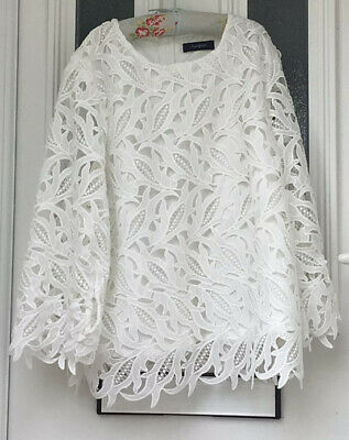 £12.99 • Buy Marks And Spencer Autograph Blouse White Size 14 Excellent Condition