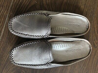£9.99 • Buy Roland Cartier Gold  Slip On Moccasin Shoes Size 4