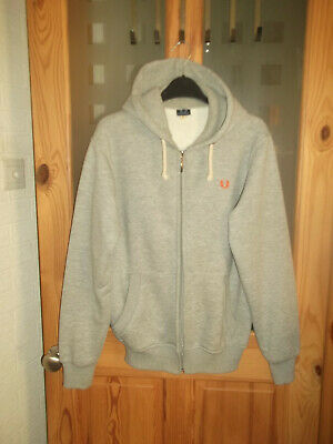 £5.99 • Buy Fred Perry Light Grey Hoodie - Size S