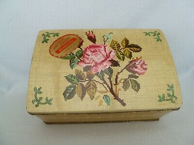 £9.99 • Buy VINTAGE CRAWFORDS 1lb BISCUIT TIN WITH INTERNAL TRAY FOR USE AS A SEWING BOX
