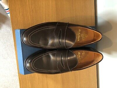 £90 • Buy Sanders Mens Shoes Brown Leather Loafer. New Only Worn In Studio