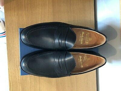 £89.99 • Buy Sanders Mens Shoes Black All Leather Loafer Brand New