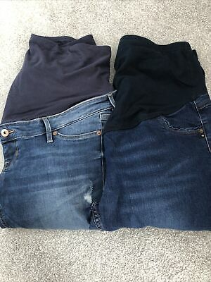 £10.50 • Buy Maternity Jeans Over The Bump Size 12-14