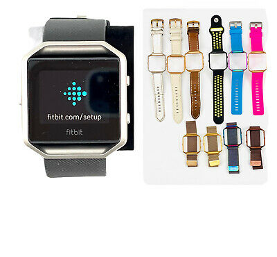 AU121.07 • Buy Fitbit Blaze Smart Fitness Watch Small Black 10 Different Bands Included ***See