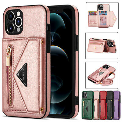 AU15.99 • Buy For IPhone 12 11 Pro/Max XR XS SE/8/7 Plus Case Leather Wallet Card Slot Cover