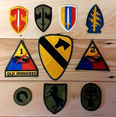 £60 • Buy US Army Shoulder Sleeve Insignia Patches Of The Vietnam War X10 Patches