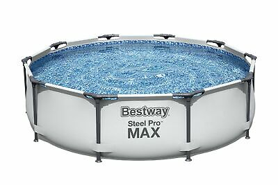 £229.68 • Buy Bestway MAX Steel Pro Round Frame Swimming Pool With Filter Pump, Grey, 10 Ft...