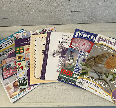 £10 • Buy 6 X Craft Magazine Bundle - Paper Pricking Piecing Parchment Punched Cards Book