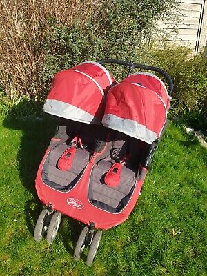 £45 • Buy Baby Jogger City Mini Double Pushchair Buggy Lie Flat From Birth