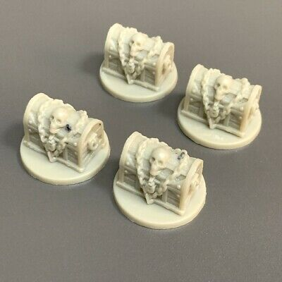 AU6.54 • Buy Lot 4 Treasure Chest Miniatures For Dungeons & Dragon D&D Figures Board Games