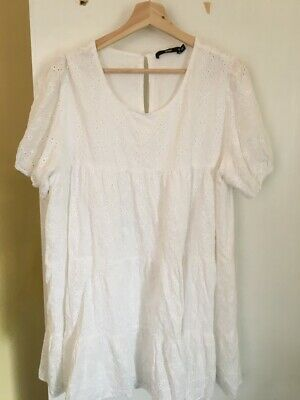 AU24.95 • Buy Sportsgirl All-White Floral Layered Dress **Size 18**