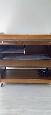 £5 • Buy Heated Hostess Trolley, Ekco, Includes 4 Glass Dishes With Metal Lids. In Gwo