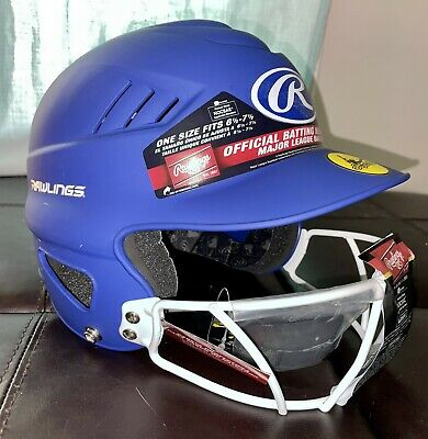"""$15 • Buy Rawlings Blue Coolflo Softball Batting Helmet  With Face Guard 6 1/2 -7 1/2"""""""