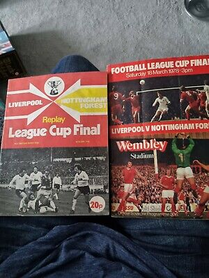 £20 • Buy League Cup Final Football Programmes Liverpool V Forest , Final And Replay Progs