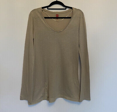 £4.99 • Buy Miss Captain Long Sleeve Beige T-shirt Size 1 (small)