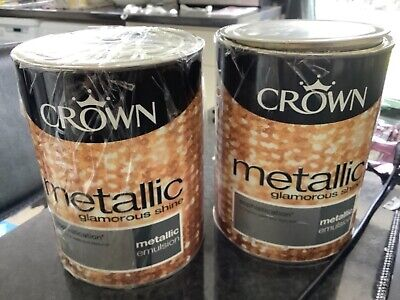 £12 • Buy Crown Metallic Emulsion Sophistication 1.25 Litre Plus Half Can COLLECTION ONLY